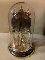 Vintage Concordia Glass Dome & Pendulum Westminster Chime Anniversary Clock