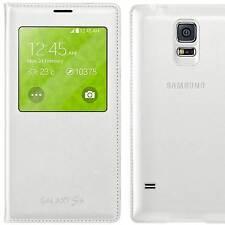 Custodia originale Samsung p Galaxy S5 SV SM-G900F neo G903F S-View cover Bianca