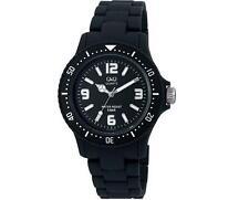 Q&Q gw76j001y Para Hombre Uni Ultraliviano Cuarzo Esfera Negra, Reloj Nuevo movimiento ciudadano