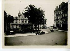 PHOTO ORIGINAL VINTAGE-G.P. AUTOMOBILE DE MONACO 1932-BUGATTI T51 N°22 GROVER