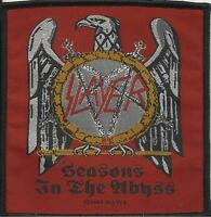 SLAYER seasons in the abyss 2004 - WOVEN SEW ON PATCH official - black border