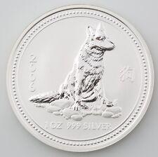 2006 Lunar Year of the Dog Australia Series 1 1 oz. 999 Silver BU Coin