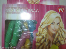 BNEW Magic Leverag Hair Curler Curl former curlformer as seen on TV 18-pc set