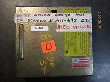 86 87 NISSAN 200SX MIT CA ECU/ECM #A11-695 G31 RED STICKER *See description*