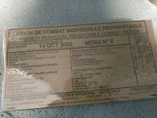 #2022# Menu 8 , French MRE IRP Military Food RCIR 24H MENU Combat Box US France