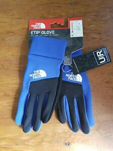 NWT The North Face Etip Glove Unisex Adult Size Large Blue Black Touchscreen