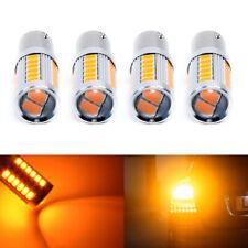 4 X Amber 1156PY,BAU15S,PY21W LED Bulbs 33SMD Car Tail Turn Brake Reverse Lights
