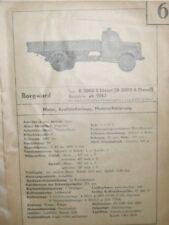 * Borgward  B 3000 S A Diesel ab 1942 Datenblatt Typenblatt + Wartung original