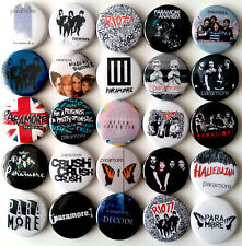 PARAMORE Button Badges Pins Riot! The Summer Tic That's What You Get Lot of 25