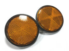 Pair Honda CB650 CB750C CB900 CB750F CB750K CB750SC Headlight Reflectors Amber