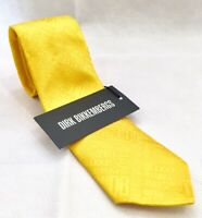 DIRK BIKKEMBERGS Krawatte Tie Cravatta Seide Silk Seta gelb yellow NEU Etikett!