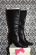 Ellyn Black Leather Boots by Rampage 10 M