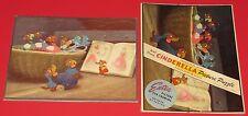 VINTAGE WALT DISNEY CINDERELLA PICTURE PUZZLE FRAME TRAY & SLEEVE 1950 VERY NICE