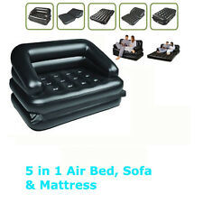 5IN1 INFLATABLE MULTIFUNCTIONAL DOUBLE AIR SOFA CHAIR COUCH LOUNGER BED MATTRESS