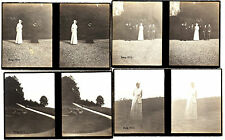 Stereofotografie,königl.Fam.von Bayern,im Park von Schloß Berg,Starnbergersee