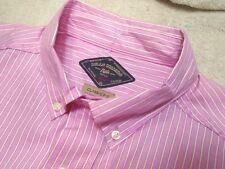 Bills Khakis 100% Cotton Pink Hamilton Stripe Sport Shirt NWT Large $145