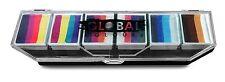 Global Colours 6 x 10g Rainbow Splash Palette, Face Paint makeup, Rainbow Cake
