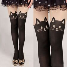 Cute Women Cat Tail Gipsy Mock Knee High Hosiery Pantyhose Tattoo Tights Girls