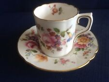 Royal Crown Derby Derby Posies coffee can & saucer (minor gilt wear)