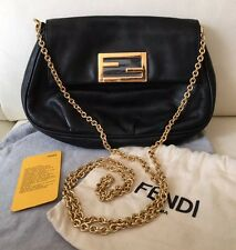 100% Auth. Fendi Fendista Leather Pouchette Shoulder Bag