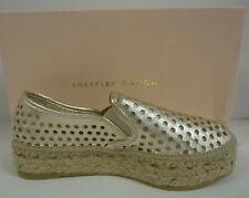 LOEFFLER RANDALL Rowan Gold Metallic Perforated Espadrille Sneaker
