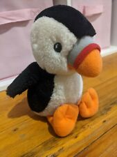 Puffin Plush Toy 'Parrot Of The Sea'  Bird Black & White feathers