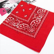Mulit-Color Women Men Kerchief Paisley Bandana Cotton Soft Neck Scarf Headwear