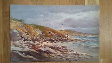 peinture aquarelle paysage bord de mer presqu'ile de Rhuys Port Navalo 19ème