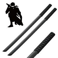 """2 - 31"""" Wood NINJA Bokken SWORDS Training Practice Martial Arts Cord Handles Blk"""