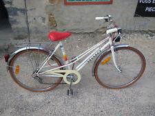Ancien VÉLO Route Ville Vintage blanc Marque PEUGEOT vieux cycle velo france