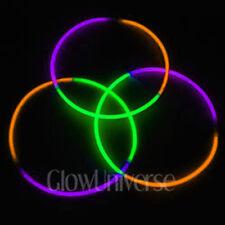 "100 24"" Glow Necklaces in Tri-Color Green, Purple, Orange"