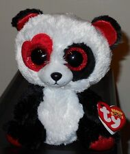 "Ty Beanie Boos - VALENTINA the 6"" Valentine's Day Panda Bear~ 2017 NEW ~ IN HAND"