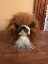Vintage Dakin Plush Pekingese Dog Small Long Hair Breed