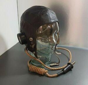 WW2 Royal Air Force RAF C-Type Flying Helmet - Internally Wired & Named
