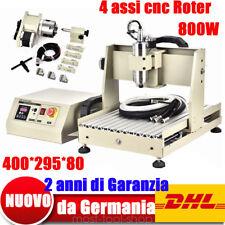 800W VFD CNC 4assi Router Engraver macchine FRESA  LEGNO Incisione dei metalli