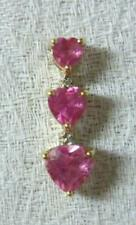 10k Solid Gold Pink Sapphire Pendant