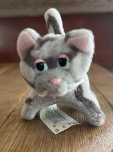 "Cute Rare Viny Mini Pound Purries Kitty Cat Gray Striped Tabby 2"" Cat Plush"