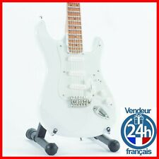 FENDER STRATOCASTER - GUITARE MINIATURE! Rock Blanche all White Olympic Electric