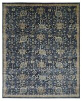 "Hand Knotted Indigo Oushak Wool Tribal New Oriental Rug Carpet 12'2"" x 15'"