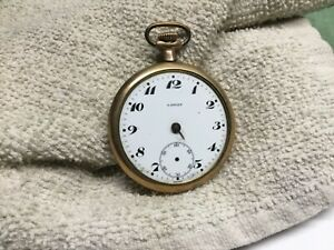 Lancet Swiss Pocket Watch as is no crystal no hands does not run