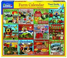 White Mountain Farm Calendar 1000 Piece Jigsaw Puzzle New Sealed