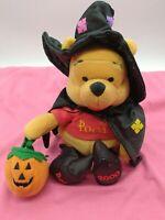 "Disney Store Mini Bean Bag Witch Pooh NWT 9"" Plush Stuffed Animal Halloween"