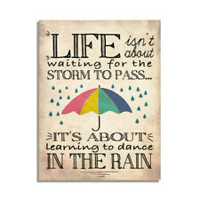 Life Isn't About Waiting For The Storm To Pass Gift Fridge Magnet 4x3 inch