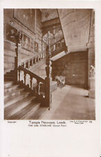 Yorkshire Postcard - Temple Newsam - Leeds - The Oak Staircase - RP - Ref 1000A