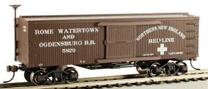 """HO Scale  - Old Time Box Car, Rome Watertown and Ogdensburg  - """" BAC-72312"""