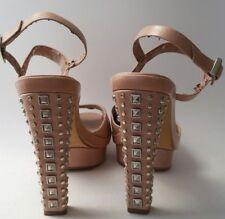 1c62f07f6378 Vince Camuto Blush Pink Nude Platform Studded High Heels Size 9B Leather  Upper