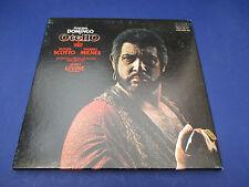 Verdi Otello Domingo scotto Milnes Levine, CRL3-2951, 3 Record Set With Score