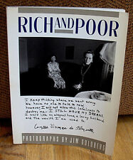 JIM GOLDBERG Rich And Poor 1st Original PB ED 1985 Portraits Wealth Poverty