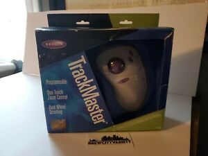 Belkin TrackMaster 3 Button PS/2 & Serial Trackball Dual Scrolling Mouse In Box