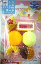 IWAKO JAPANESE ERASERS Dessert II Blister Set